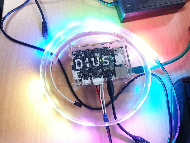 DiUS Build Lights from top